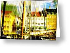 Danish Harbor Greeting Card