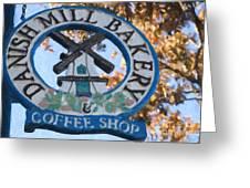 Danish Mill Bakery In Solvang California Greeting Card