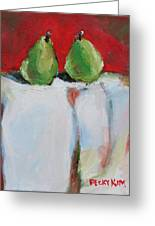 Danjour Pears  Greeting Card by Becky Kim