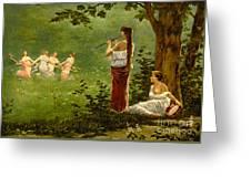 Dans La Prairie 1890 Greeting Card