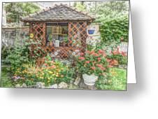 Dans Le Jardin Greeting Card