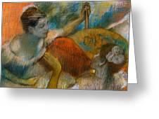 Danseuse A L'eventail Greeting Card by Edgar Degas