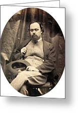 Dante Gabriel Rossetti English Poet Greeting Card by Photo Researchers