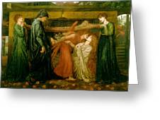 Dantes Dream At The Time Of The Death Of Beatrice 1856 Greeting Card