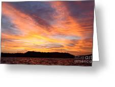 Darien Sunset Greeting Card