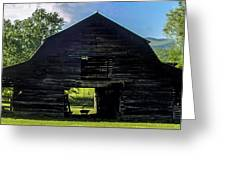 Dark Barn Greeting Card