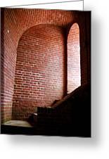 Dark Brick Passageway Greeting Card by Frank Romeo