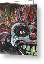 Dark Clown Greeting Card