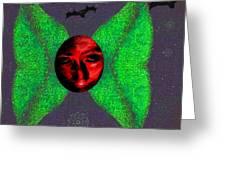 Dark Fallen Angel Greeting Card