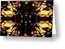 Dark Flame Of Nature Greeting Card