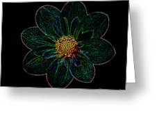 Dark Flower 2 Greeting Card