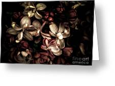 Dark Flowers Greeting Card