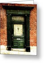 Dark Green Doorway Photograph Print Greeting Card