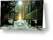 Dark Gritty Alleyway Greeting Card