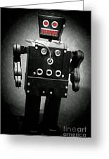 Dark Metal Robot Oil Greeting Card
