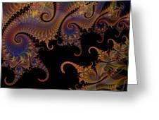 Dark Paisley Tails Greeting Card