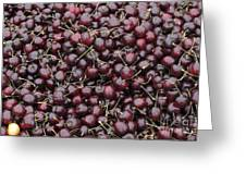 Dark Red Cherries For Sale Greeting Card