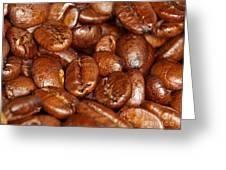 Dark Roasted Coffee Beans Greeting Card