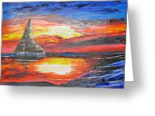 Dark Sail Greeting Card