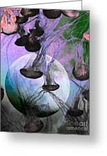Dark Side Of The Moon 5d24939 Painterly P180 Greeting Card by Wingsdomain Art and Photography