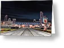 Dark Skies At Citizens Bank Park Greeting Card