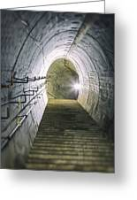 Dark Tunnel And Staircase Greeting Card