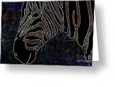 Dark Zebra Greeting Card