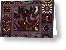Darkened Country Redux Greeting Card