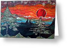 Darkness Falls From Light Greeting Card by Matthew  James