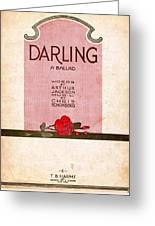Darling Greeting Card