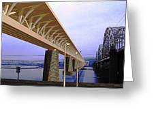 Darnitsky Bridge Greeting Card