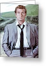 Darren Mcgavin Greeting Card by Silver Screen