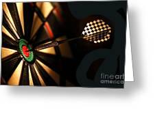 Dart Board In Bar Greeting Card