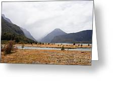 Dart River Valley Rain Clouds Mt Aspiring Np Nz Greeting Card