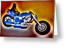Darth Vader Rides A Harley  Hdr Greeting Card