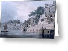 Dasasvamedha Ghat, Benares, Uttar Greeting Card