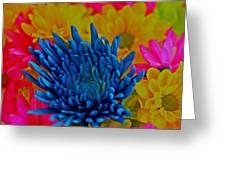 Dash Of Blue Greeting Card