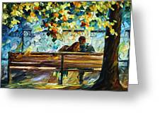 Date On The Bench Greeting Card