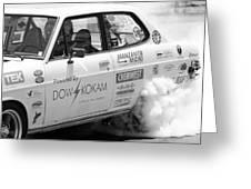 Datsun Smoking Tires Greeting Card