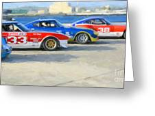 Datsun Z Racers At Sebring Greeting Card