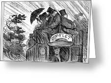 Bus, 1856 Greeting Card