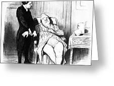 Daumier: Doctor Cartoon Greeting Card