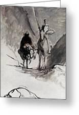 Daumier: Don Quixote Greeting Card