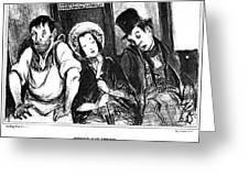 Daumier Omnibus, 1841 Greeting Card