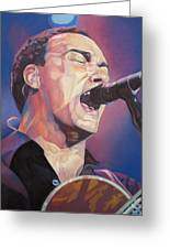 Dave Matthews Colorful Full Band Series Greeting Card