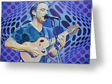 Dave Matthews-op Art Series Greeting Card