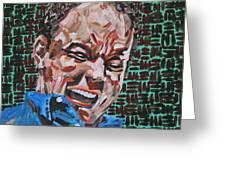 Dave Matthews Portrait Greeting Card