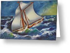 Daves' Ship Greeting Card