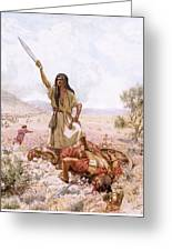 David And Goliath Greeting Card by William Brassey Hole