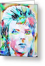 David Bowie - Watercolor Portrait.6 Greeting Card